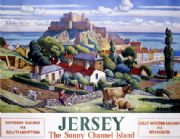 Channel Island, Jersey, British Railway Travel Poster